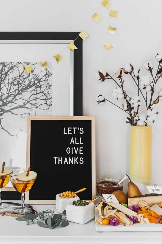 ideas for Thanksgiving entertaining