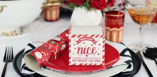 Red & White Christmas Tablescape for Brunch