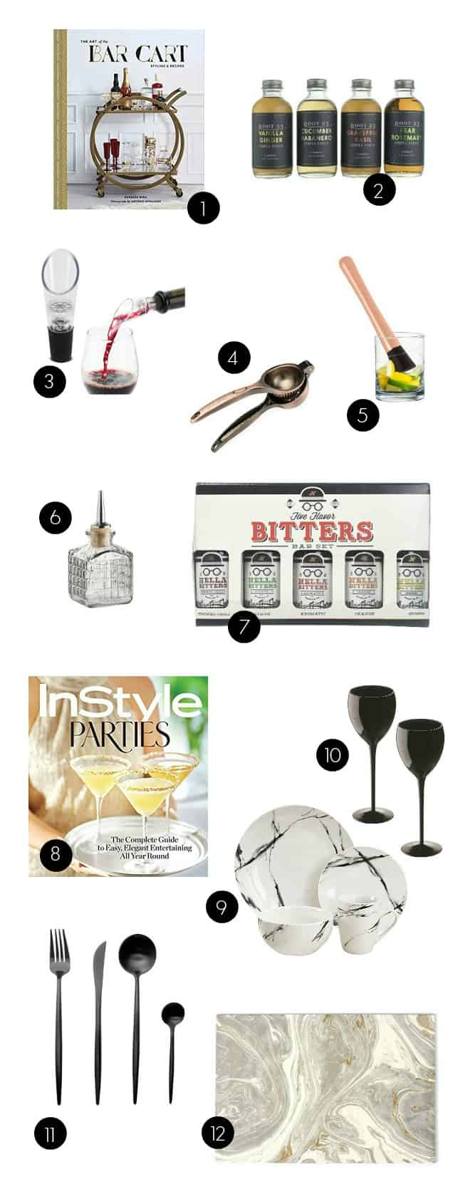 Find great Gifts for Entertaining right here. I've got bar and tabletop picks that will have you hosting in style! #gifts #giftgiving #entertaining