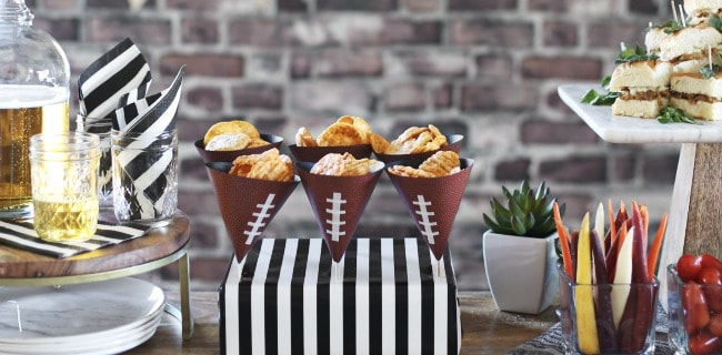 Game Day Snack Ideas W Diy Chip Cones Celebrations At Home