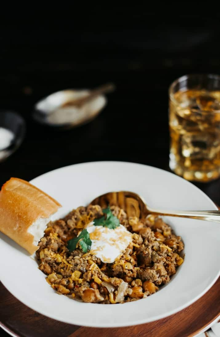 slow cooker chili with chicken and sausage recipe
