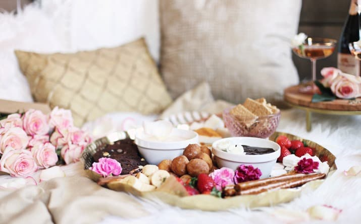 Date Night Dessert Fondue Platter for Two