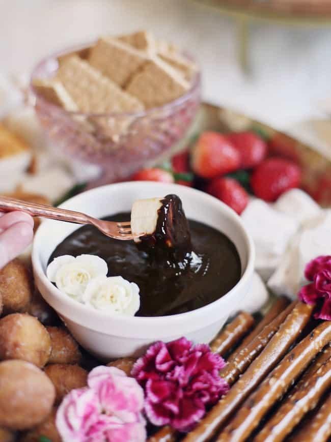 Date Night Dessert Fondue Platter For Two Celebrations