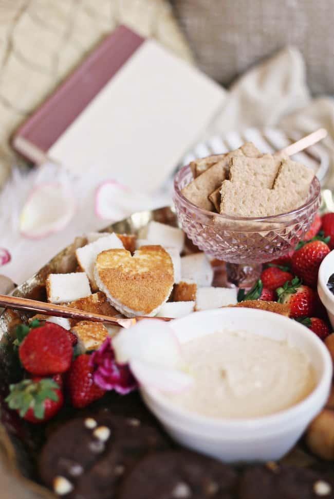 dessert fondue platter cake dippers