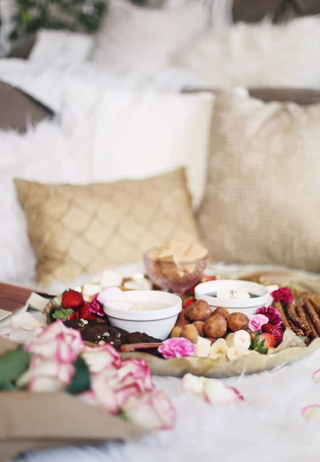 date night dessert fondue platter