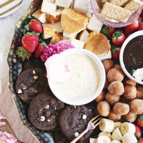 how to make a dessert fondue platter