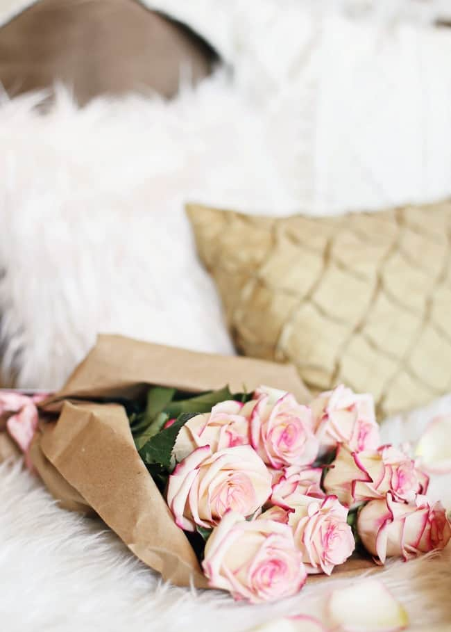 date night pink roses