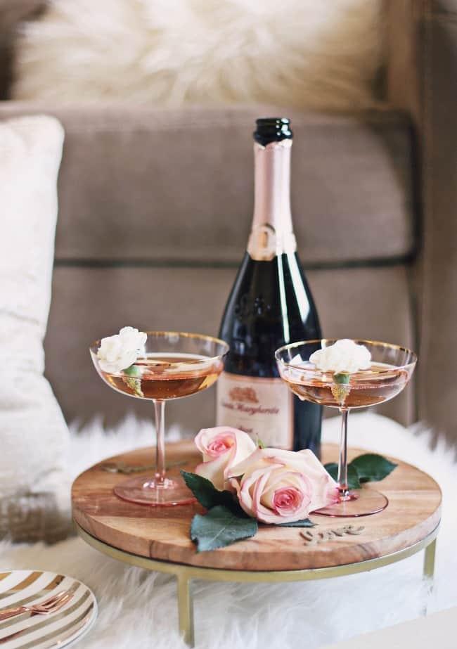 date night dessert fondue platter for two