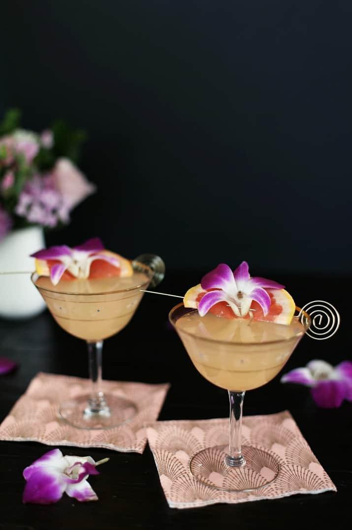Grapefruit Rosemary Gin Fizz Cocktail recipe