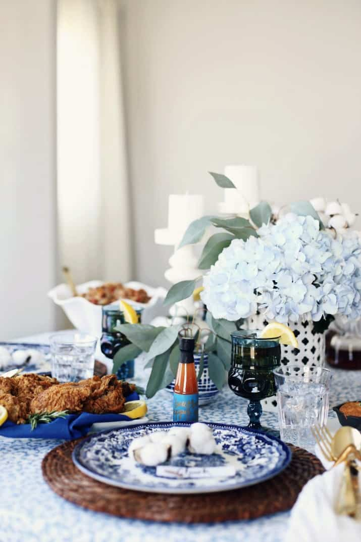 Southern dinner party tablescape