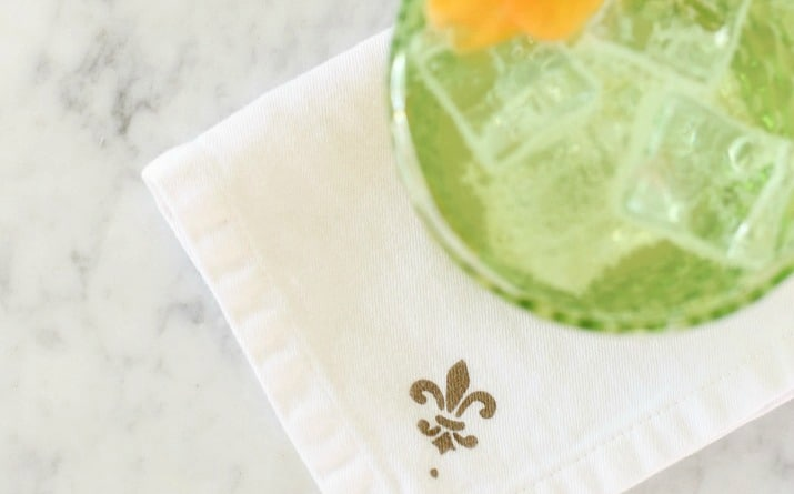 DIY Stenciled Cocktail Napkins for a Custom Look