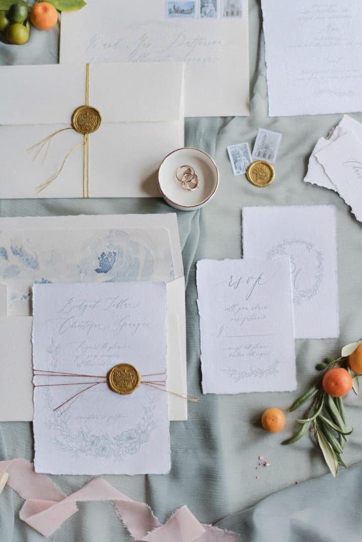 romantic wedding day ideas-invitation suite