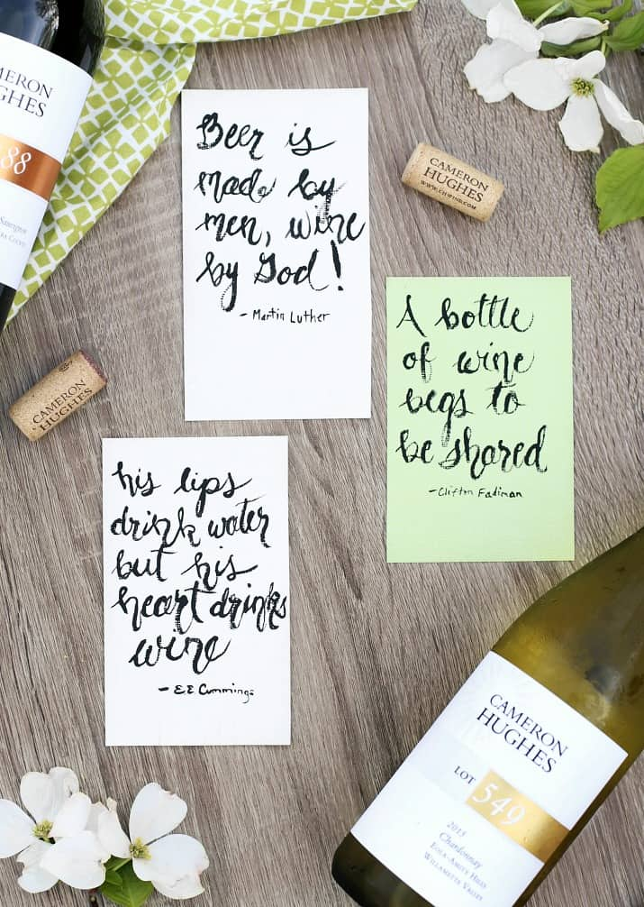 wine tasting party and diy sandwich bar - wine quotes signs