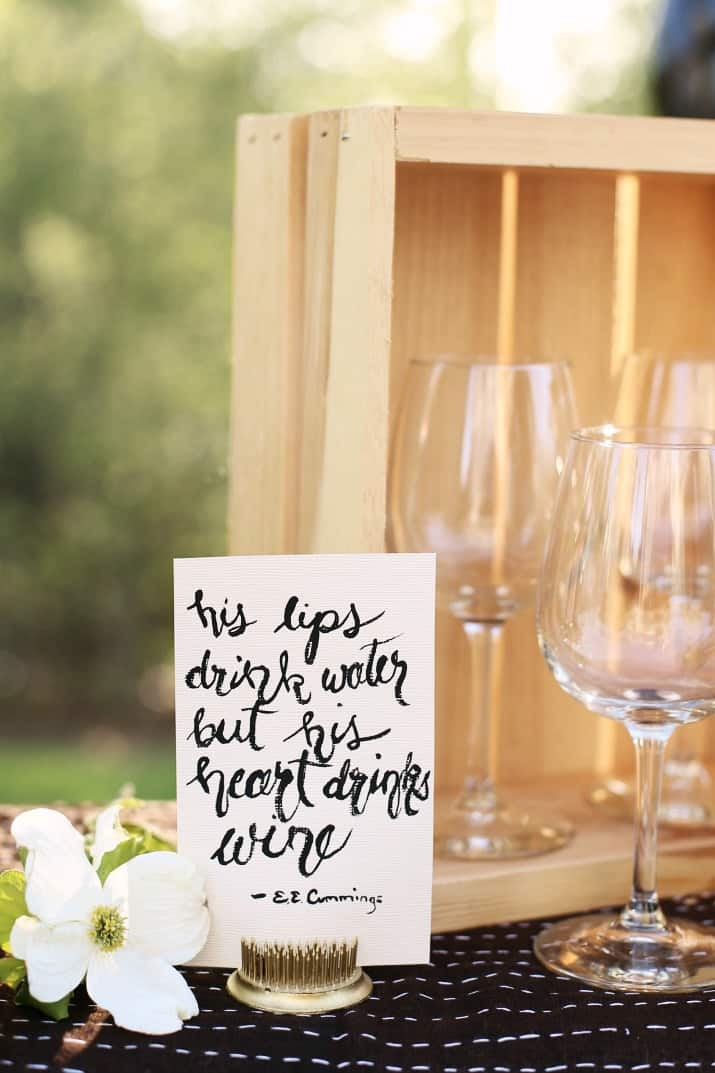 wine tasting party and diy sandwich bar mini signs about wine