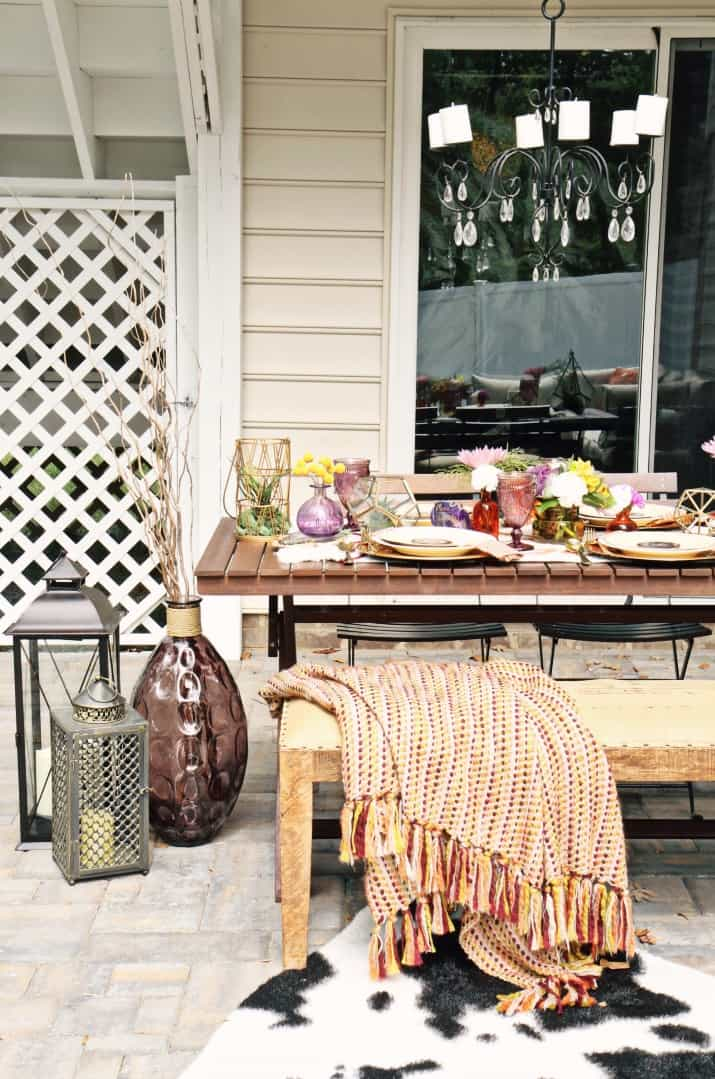 fall tabletop design - fall entertaining on the patio