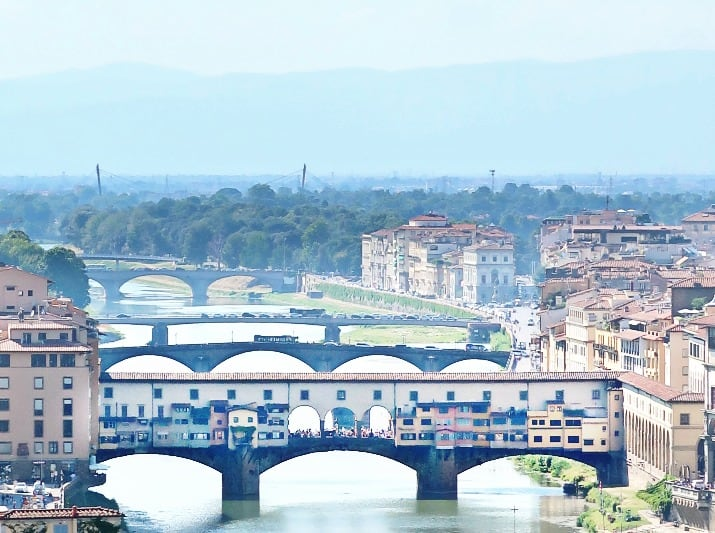 A Day Wine Tasting tour in Tuscany; view of ponte vecchio