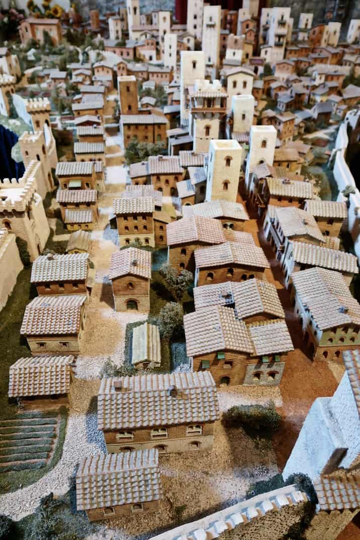 A Day Wine Tasting tour in Tuscany; town model of San Gimignano