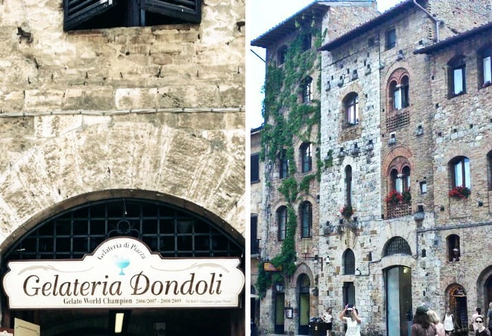 A Day Wine Tasting tour in Tuscany; gelato world champion in San Gimignano