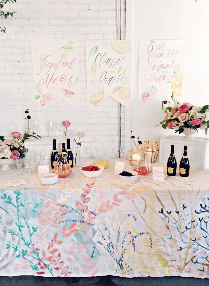 5Ways to Make Your Event Feel Special; bubbly bar