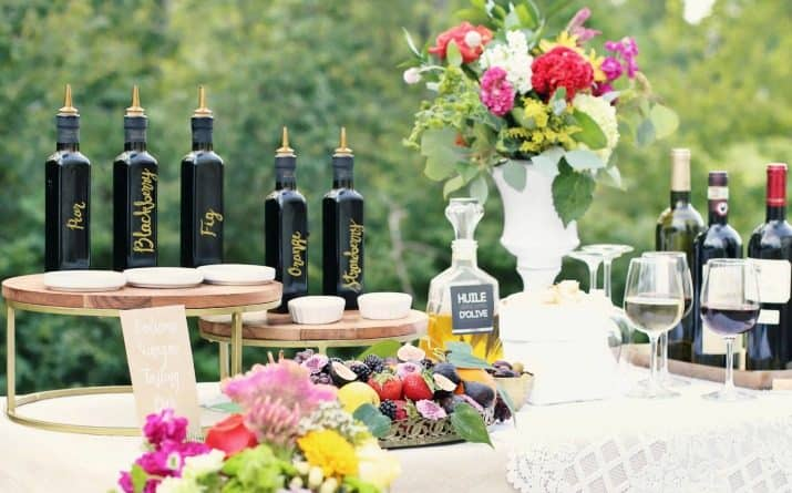 How to Set up a Balsamic Vinegar Tasting Bar & Wine Sampling