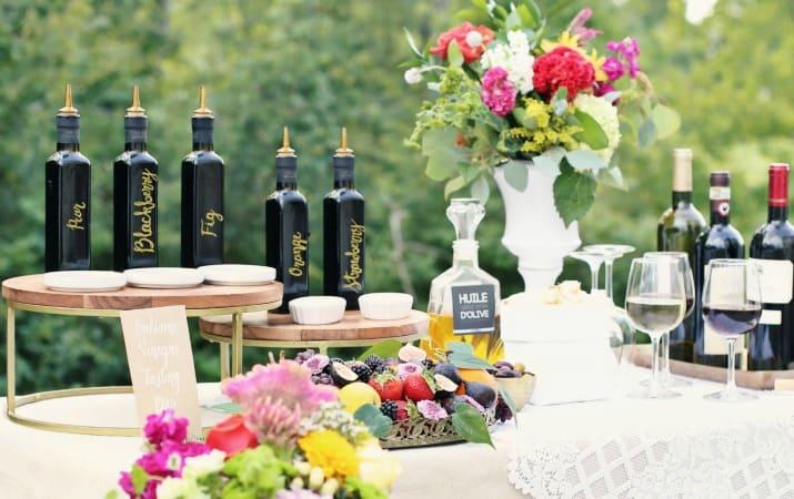 How to Set up a Balsamic Vinegar Tasting Bar & Wine Sampling