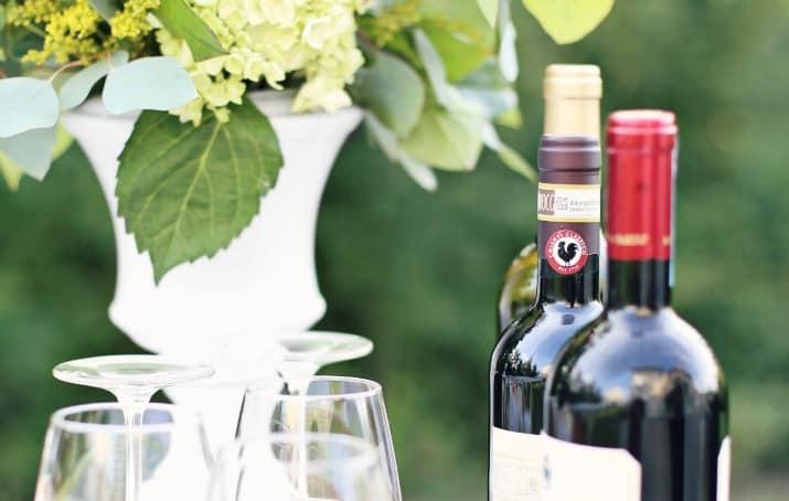 Italian wine bottles