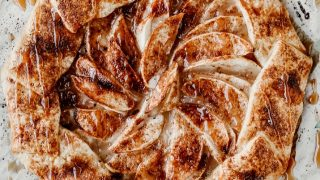 Rustic Apple Galette with Caramel Drizzle Recipe