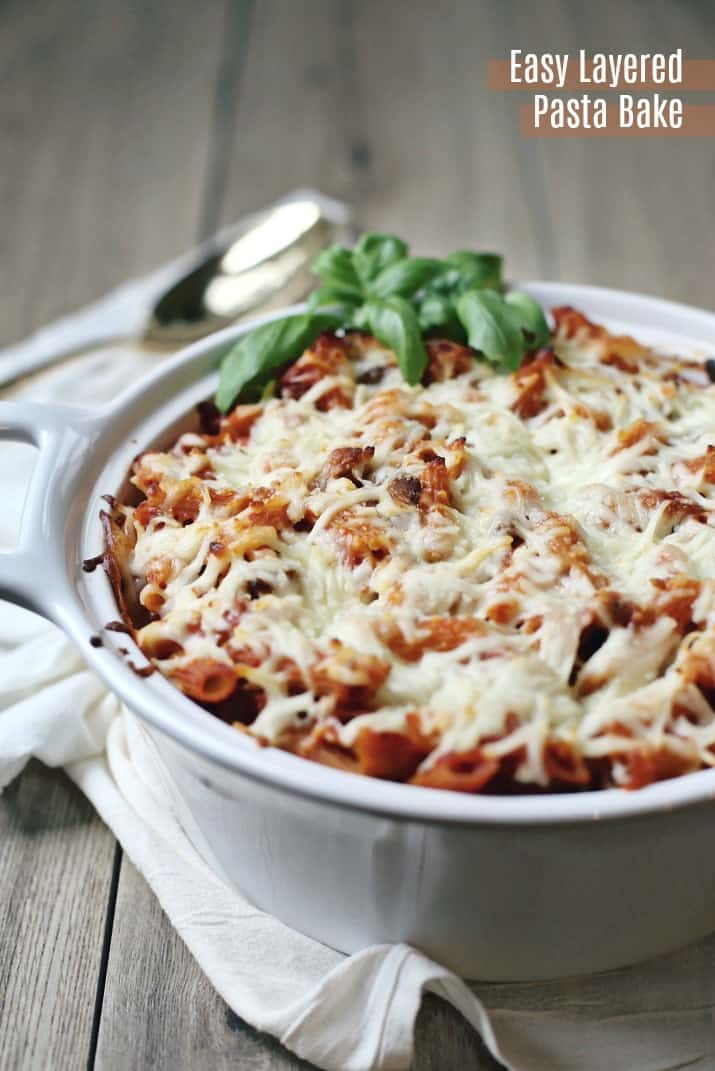easy layered pasta bake recipe