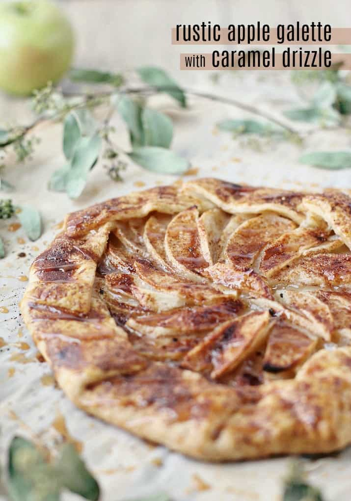 rustic apple galette with caramel drizzle recipe for entertaining