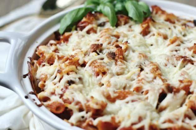 easy layered pasta bake tastes like lasagna
