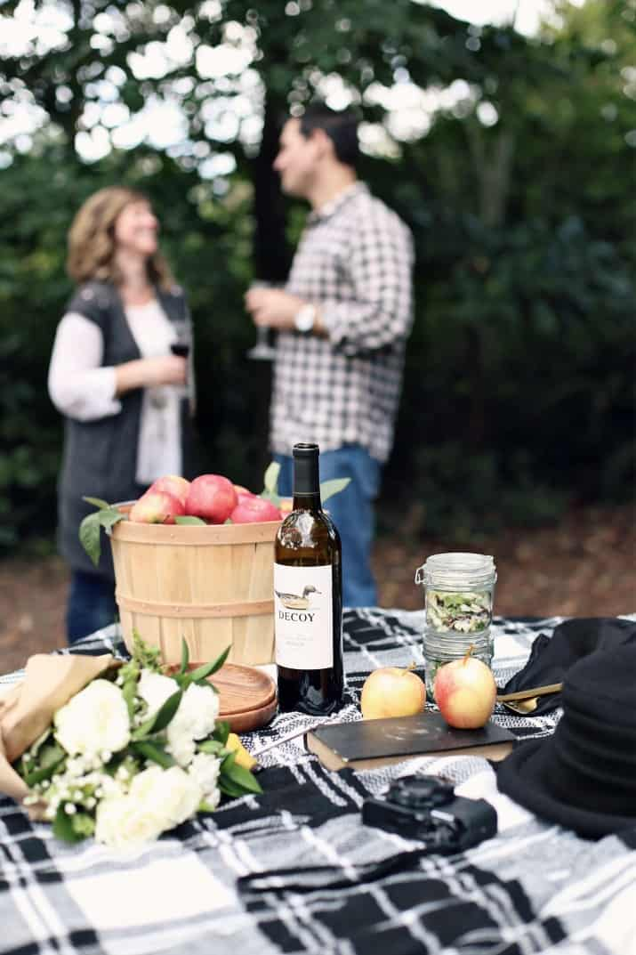 fall picnic and apple picking
