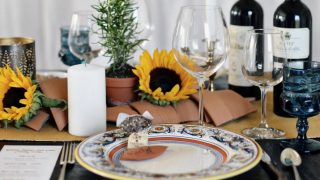 Italian themed dinner party Tablescape, Menu & Wine Pairing