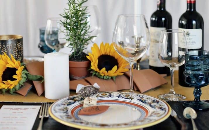 Italian themed dinner party & wine pairing