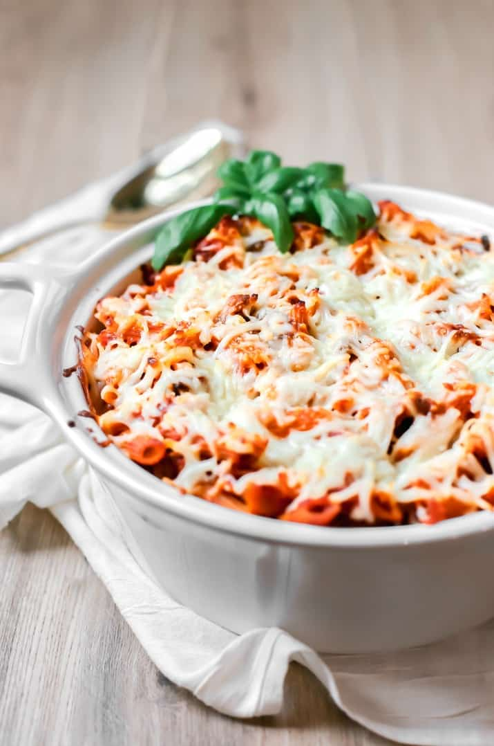 easy layered pasta bake