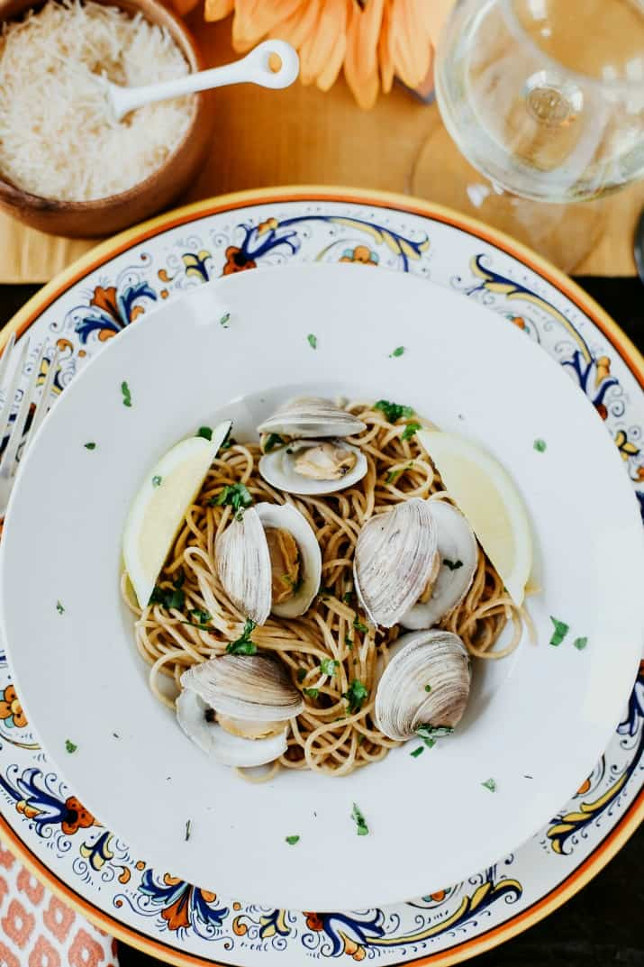 second course spaghetti with clams