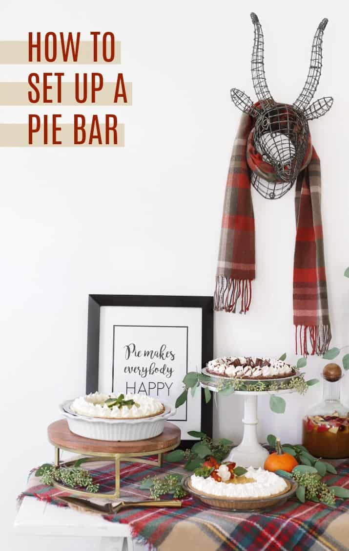 pie bar dessert table