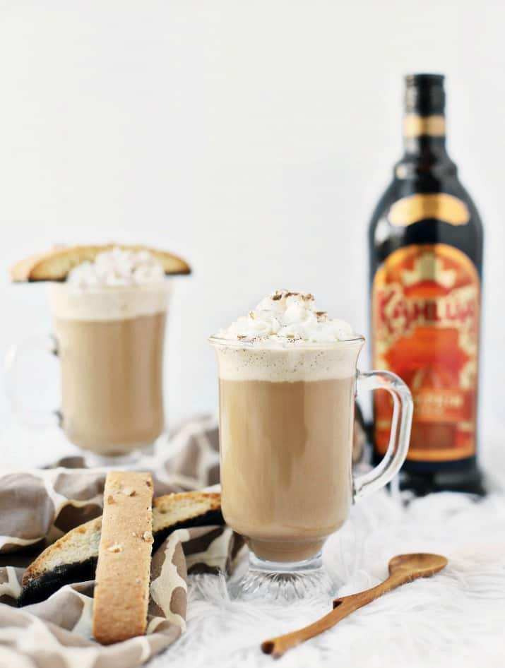 two glasses and Kahlua bottle, Pumpkin Spice Kahlúa Coffee Recipe
