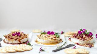 Baked Brie Topped 3 Ways