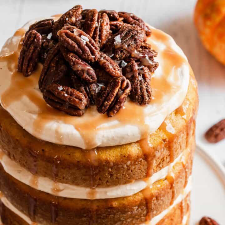 easy pumpkin cake recipe card