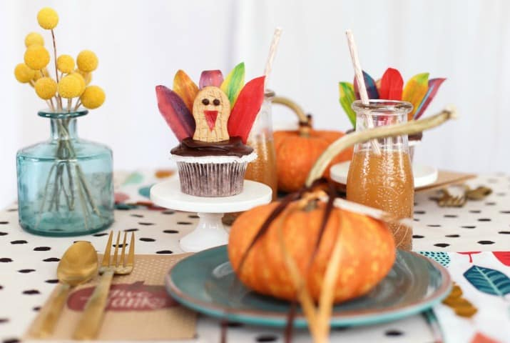 Colorful Thanksgiving Kids Table Ideas