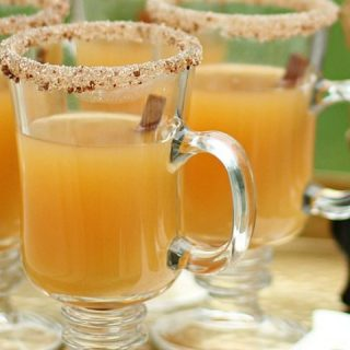 spiced apple hot toddy recipe card
