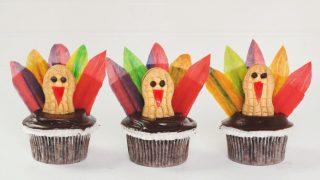 DIY Thanksgiving Turkey Cupcakes
