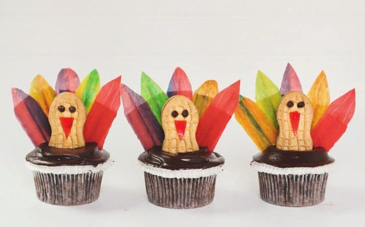 DIY Thanksgiving Turkey Cupcakes