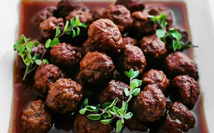 meatballs in bourbon sauce