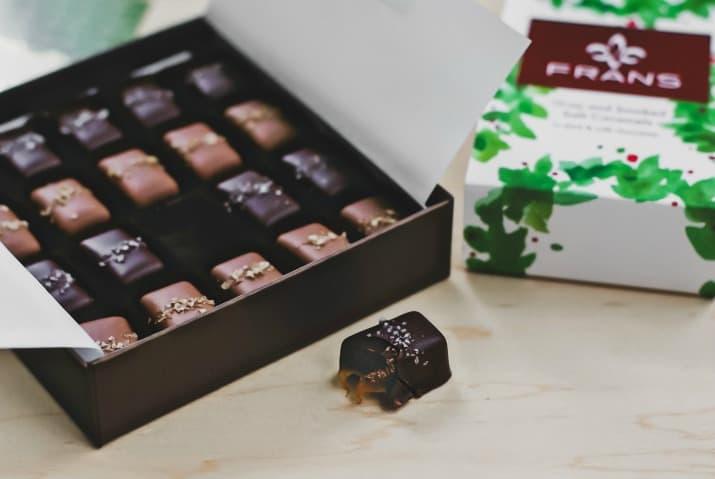 gift ideas, box of chocolates