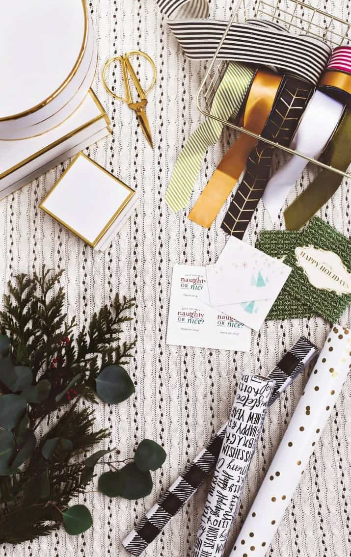 gift ideas, wrapping supplies