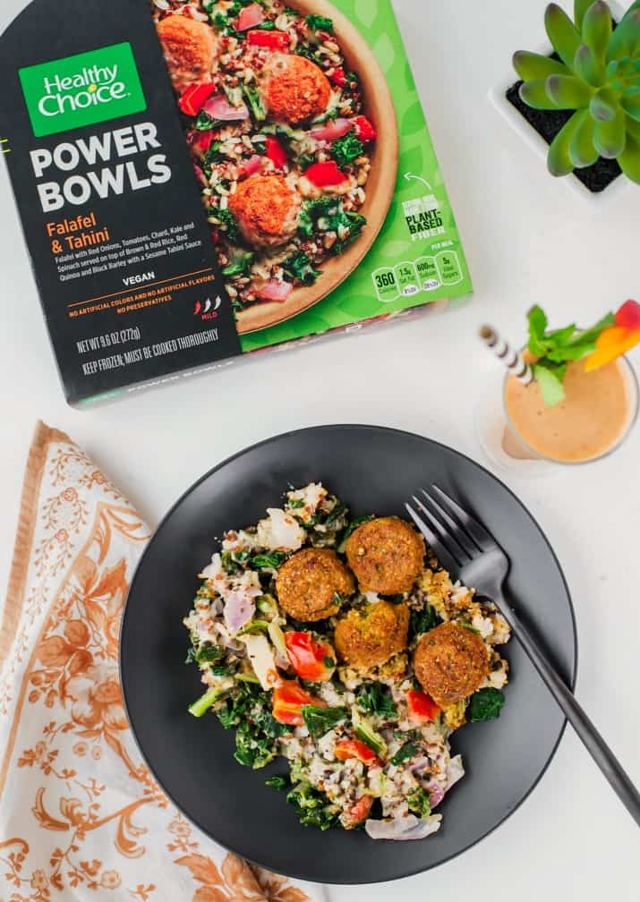 10 tips for healthy food choices in the new year including Healthy Choice vegetarian power bowls