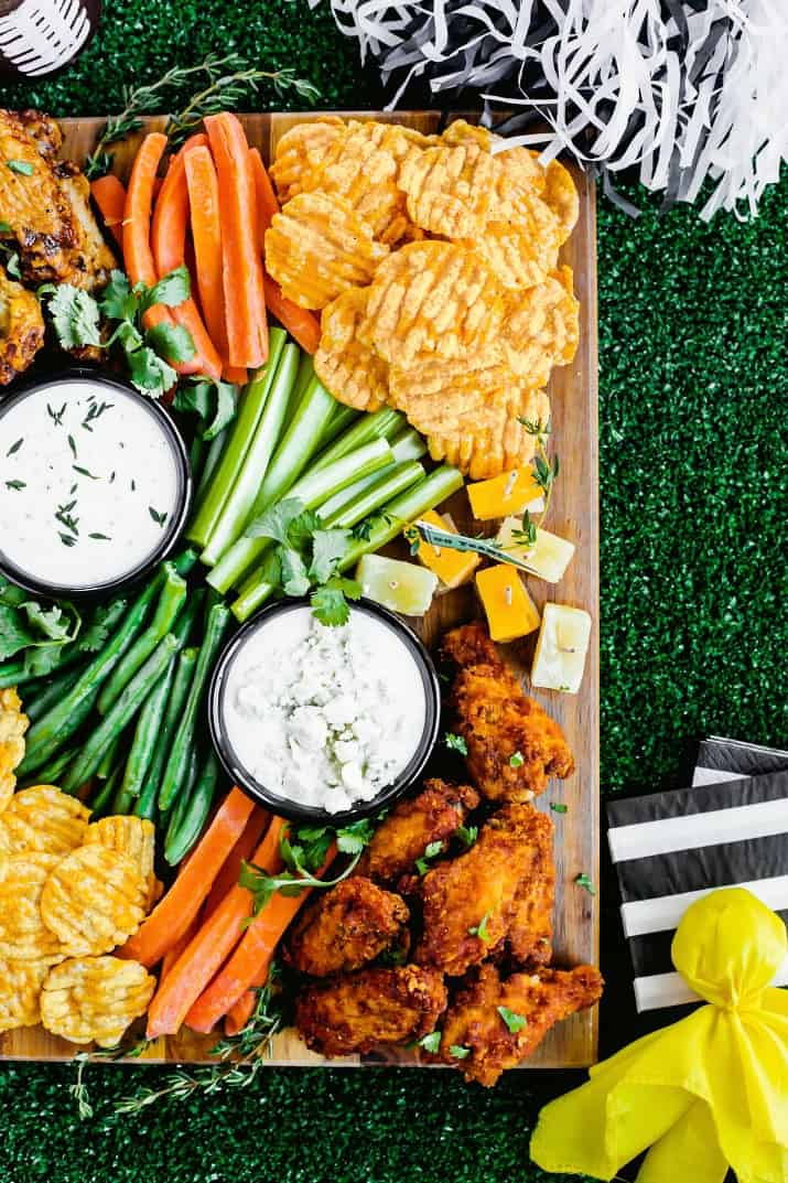 game day football party snack board party food