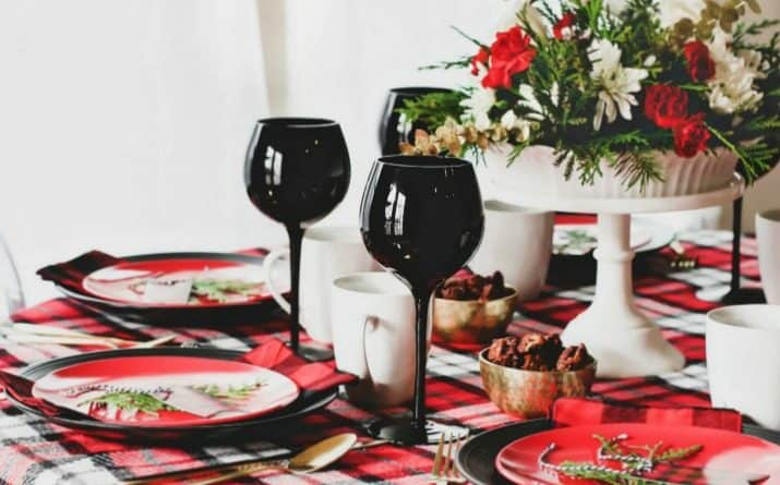 Winter Brunch Plaid Tablescape & Menu