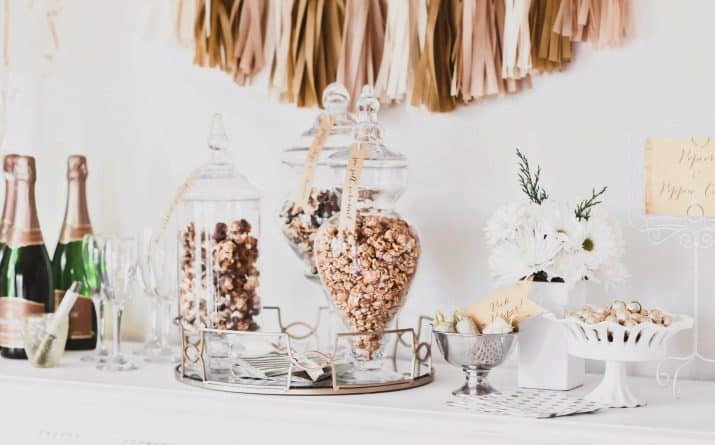 popcorn and bubbly bar ideas